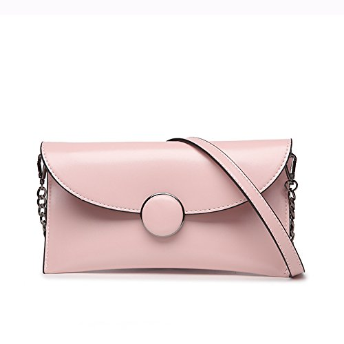 Meoaeo Coreano Moda Stile Retrò Crossbody Bag Brown Pink