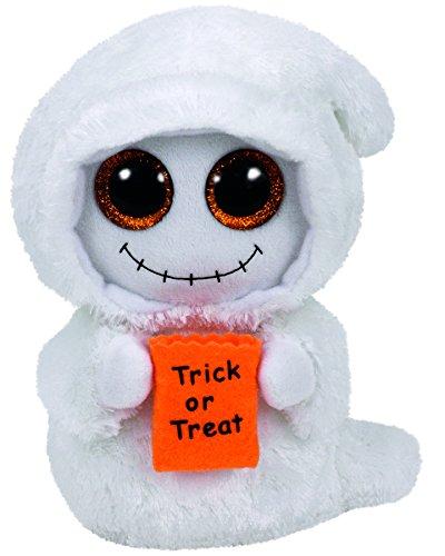 st Geist mit Glitzeraugen, Glubschi's, Beanie Boo's, Halloween limitiert, Plüsch, 15 cm, weiß ()