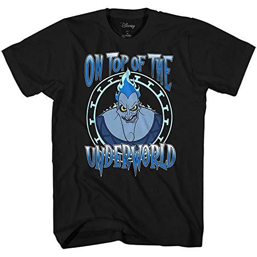 Disney Hercules Hades On Top of The Underworld Mens T-Shirt (XXXL, Black)