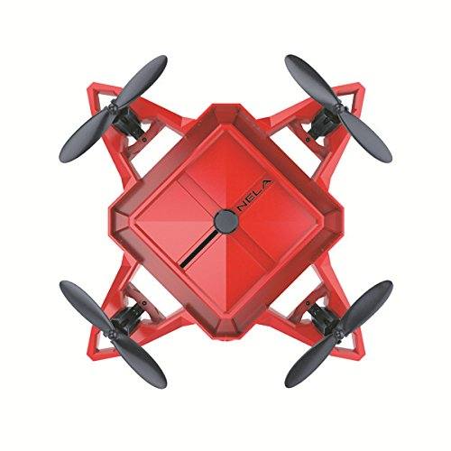 LBAFS Mini Folding Drone Mit HD Kamera Live Video Höhe Halten Handy APP WiFi Control One Key Rückkehr 360 ° Rolling Toy Aircraft,Red