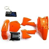 Stoneder Kit de Carénage et de garde-boue en plastique orange pour KTM501997–2010/50SX 2003–2008/50SX Junior 2003–2008/50SX Mini 2008/50mini Adventure 2003–2007/50Senior Adventure 2003–2007/50Junior Adventure 2003/Ktm50Senior Adventure Junior 50cc SX SR JR.