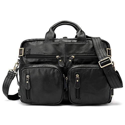 DNSJB 15-Zoll-Laptop-Tasche, Business-Laptop-Tasche, Aktentasche Messenger Umhängetasche für Männer Frauen, Büroangestellte professionelle Computer, Notebook-Tasche (Color : Black) -