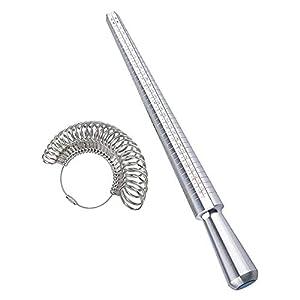 BASONG Ringdorn Ringgrößen-Messwerkzeug passende Fingergröße Größe Größe Größe für Messung, Schmuck und Schmuck