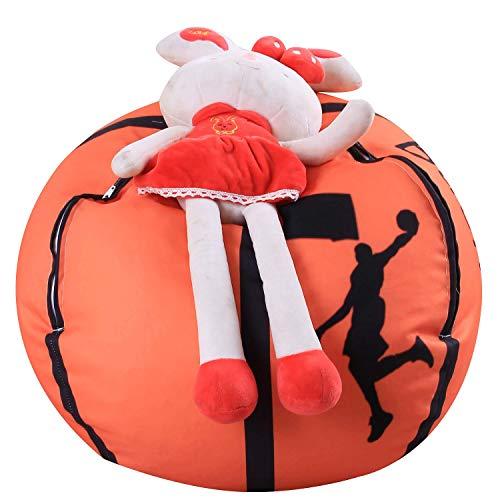 Aukuzi Sitzsack mit Stofftier-Motiv, für Familie, groß, für Kinderspielzeug, Organizer und...