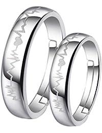 ZPL Parejas de simple creativo s925 plata anillo (ajustable)