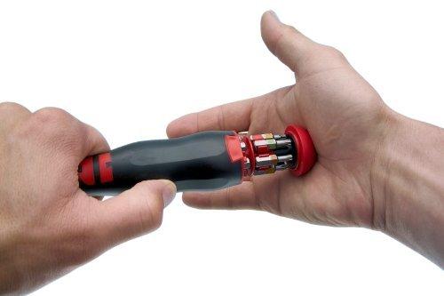Würth Schraubendreher Schraubenzieher mit Bit Magazin im Griff inkl. 12 Bits Sehr Praktisch ! Rundklinge mit Magnet NEU -