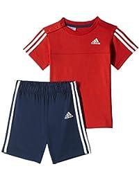 adidas 3 Stripe Summer Infant Kinder T-Shirt/kurzer Set