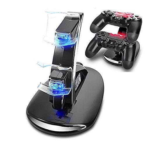 PS4 Dual Controller Caricatore Tecnugiz Stazione di Ricarica per PS4 Dual USB Supporto di Carico del Caricatore per Playstation 4 PS4 / PS4 Pro / PS4