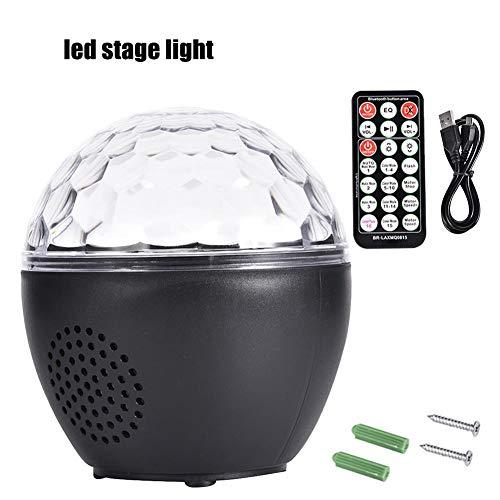 SNIIA Discokugel USB Bluetooth Lichteffekte RGB Partylicht Musikgesteuert Diskokugel LED Bühnenbeleuchtung Kristall Magic Ball mit Fernbedienung Nachtlicht für Kinder,Bar, Party -