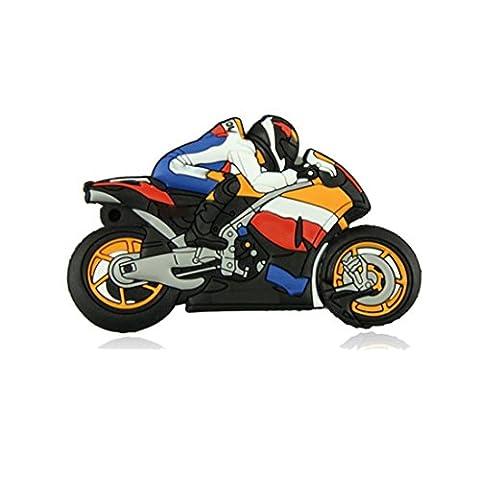 Cle USB, Kolylong® Hot Pen Drive Cartoon Motorcycle 8GB Vrac MéMoire USB Flash Drive Motor Flash InfirmièRe