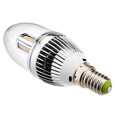 FDH 4W E14 Luces de velas LED SMD de C35 32 3014 320 lm Blanco cálido de 85-265 V CA