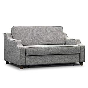 ES Design 08 Schlafsofa ausziehbar liegefläche 160x200 cm 5 Jahren Garantie Beige Melange Braun Grau Schwarz holzbeine