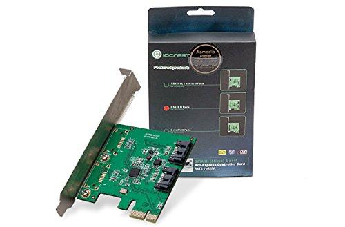 Syba SY-PEX40039 2 Port SATA III PCI-EXPRESS 2.0 x 1 Controller Karte - Pci-express-x1-karte