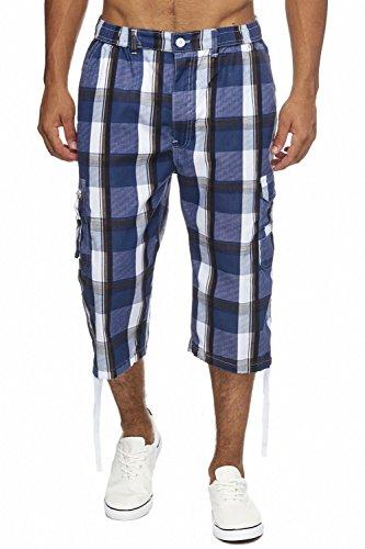 Herren Cargo-Shorts · (Relaxed Fit) Sportliche karierte Capri, kurze Cargo Pant für den Sommer, Bermuda Hose mit Karo Print und Tunnelzug · H1714 von Max Men (Jeans Neue Relaxed Herren)
