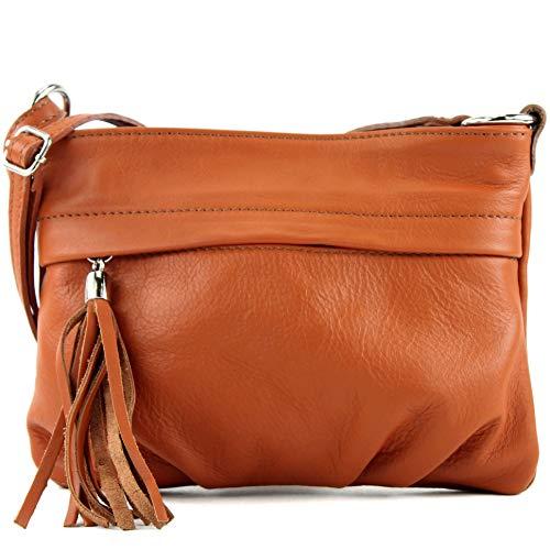 modamoda de de - la bolsa italiana pequeña napa de cuero T32, Color:Camel