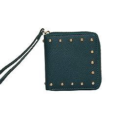 Chumbak Studded Olive Mini Wallet