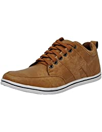 FOX HUNT Men's Tan Casual Shoes, Mens Casual Shoes, Sneakers Casual Shoes For Mens