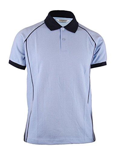 BCPOLO Unisex Art und Weise Baumwolle Polo-T-Shirt Bequeme Sportkleidung daywear-sky blue XXL (Langarm-uniformhemd Blau)