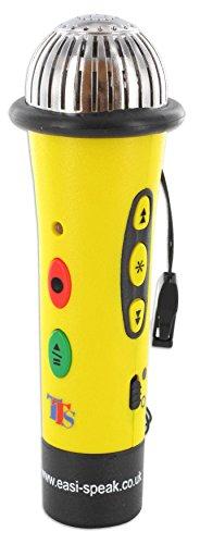 Kinder-Mikrofon Easi-Speak, ca. 13,5 cm, 128 MB Speicher - Sprachförderung DaZ DaF Aufnahme aufnehmen abspielen Laut-Leser Stimmen Lieder Geräusche Mikro Kindermikro Singen Mikrophon Handmikrofon