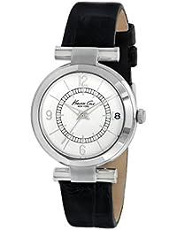 Kenneth Cole Femme Kc2746Noir Veau montre à quartz avec cadran argenté (Reconditionné Certifié)