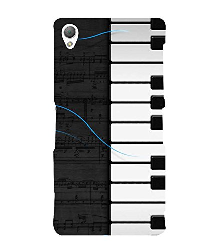 Fiobs Designer Back Case Cover for Sony Xperia Z3 Compact :: Sony Xperia Z3 Mini (Piano Keys Keyboard Casio Black White)  available at amazon for Rs.287