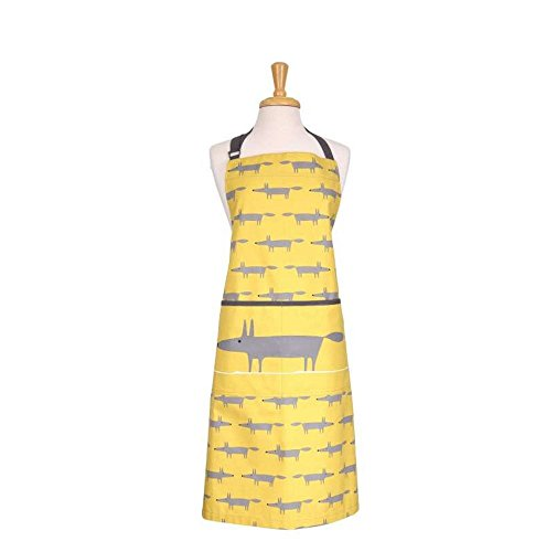dexam-scion-living-mr-fox-adult-apron-yellow