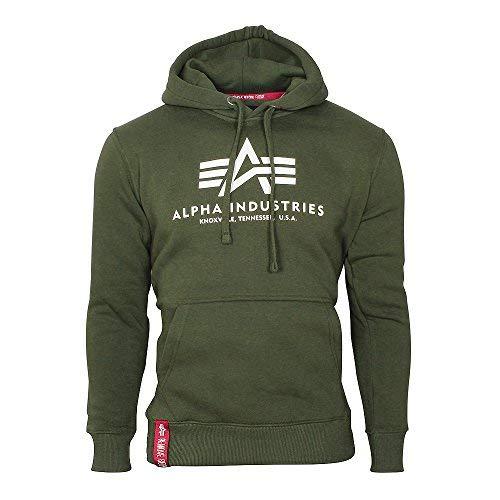 Alpha Industries Basic Hoodie Oliv S