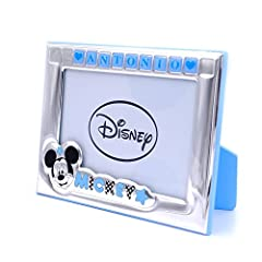Idea Regalo - Disney Baby Cornice Portafoto Mickey Mouse Personalizzabile cm 9 x 13