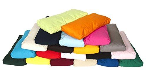 Traversin pour yoga TriYoga - petite taille Made in Germany, 37 x 18 x 4 cm, Innenkissen gefüllt mit 100% Kapokfasern, Innen- und Außenhülle aus 100% Baumwolle, Außenhülle maschinenwaschbar bis 30º C