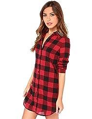 Blusas Blusa de algodón ocasional de las mujeres suelta de manga larga
