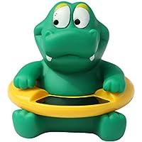 WalshK Lindo animal bebé infantiles baño termómetro temperatura del agua probador juguetes verde pequeño cocodrilo