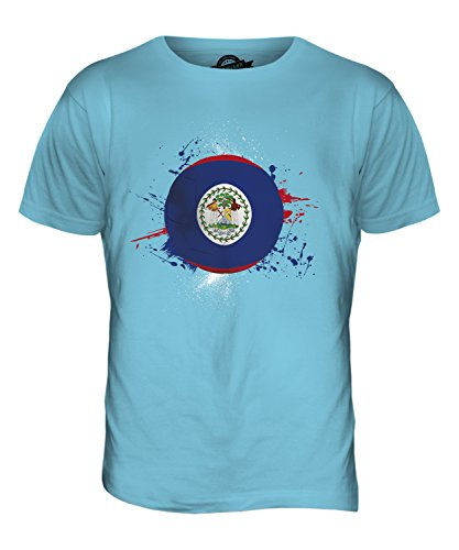 CandyMix Belize Fußball Herren T Shirt Himmelblau