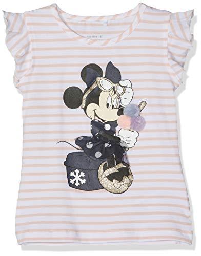NAME IT Baby-Mädchen Nmfminnie Poppy Ss Top Wdi T-Shirt, Mehrfarbig  (Strawberry Cream), (Herstellergröße:80)