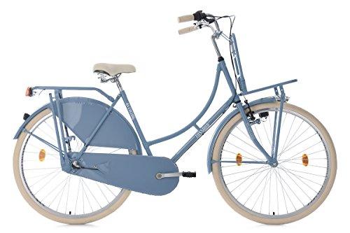 Hollandrad 28'' Tussaud 3-Gang hellblau mit Frontgepäckträger RH 54 cm KS Cycling