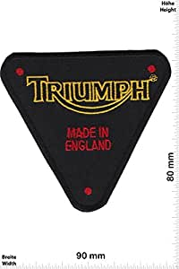 Patches - Triumph - Made in England - Auto Car Biker -- Motorbike - Motorsport - Motorcycles - Biker - Iron on Patch - Applique embroidery Écusson brodé Costume Cadeau- Give Away