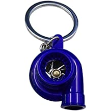 Llavero de turbocompresor - TOOGOO(R)Llavero de turbocompresor de manga de cojinete de girar de oro de modelos de partes de coche de color azul