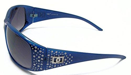 VOX féminines polarisés des lunettes de Designer de mode lunettes de soleil Bleu - Blue Frame - Smoke Lens