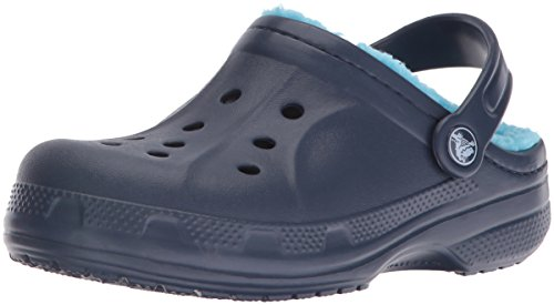 crocs Winter Clog Kids, Unisex - Kinder Clogs, Blau (Navy/Electric Blue), 32-33 EU (Croc-klappe)