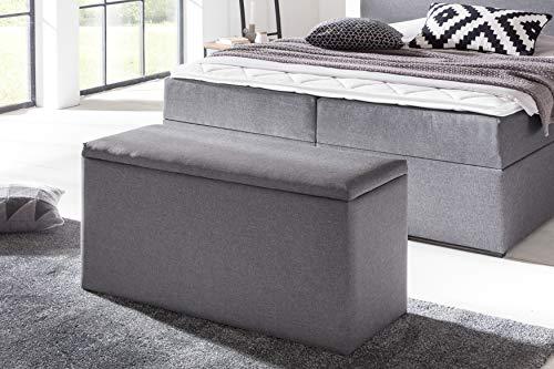 Möbelfreude® Bettbox Nelli | Aufbewahrungsbox für Boxspringbetten und Polsterbetten | Sitztruhe in verschiedenen Farben und Größen