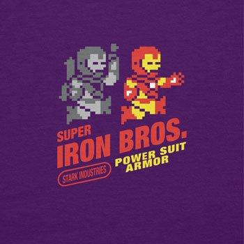 NERDO - Super Iron Bros - Damen T-Shirt Violett