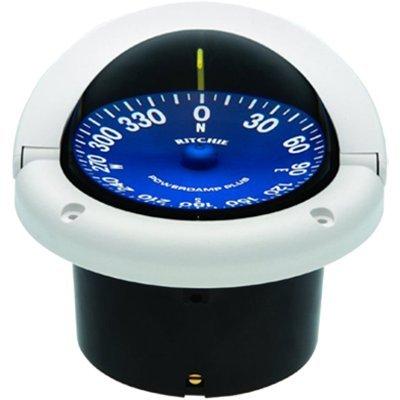 Ritchie Navigation ss-1002W Supersport Flush Mount Kompass, weiß mit blauem Zifferblatt, 3-3/4-Zoll Marine-gps-tracking