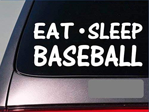 Tollyee Car Decals and Stickers Eat Sleep Baseball Sticker *G786* 8