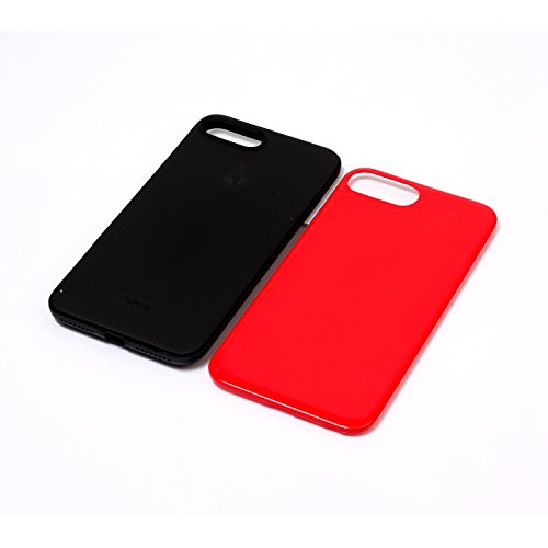 Voguecase® für Apple iPhone 7 Plus 5.5 hülle, Schutzhülle / Case / Cover / Hülle / TPU Gel Skin (Marmor/Schwarz) + Gratis Universal Eingabestift 2-in-1 PC+TPU/Rot