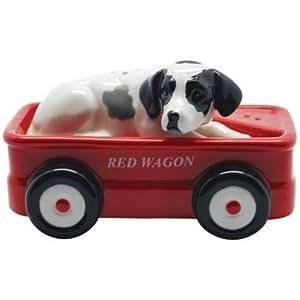 Westland Giftware chien dalmatien rouge Wagon Salière et poivrière Par Westberry Wellness programmes