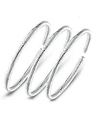 Daorier Bracelet Argenture Style Bohème Alliage Femmes s'entrelacer Bracelets Simple 3PC