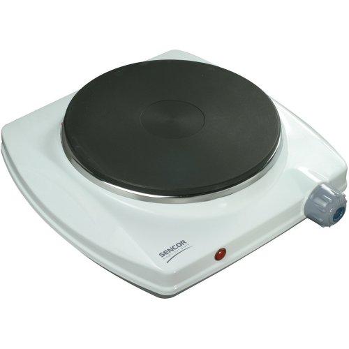 Sencor SCP 1500 Plaque chauffante électrique - 1500W - 18,5 cm de diamètre - Protection contre les surchauffes Blanc