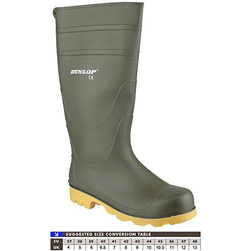 Dunlop Universale PVC Stivali in gomma / Uomo Stivali Wellington Verde