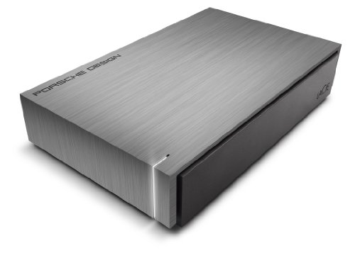 LaCie Porsche Design - Disco duro externo de 4TB (USB 3.1 Type-C, Desktop, 3.5'), plateado