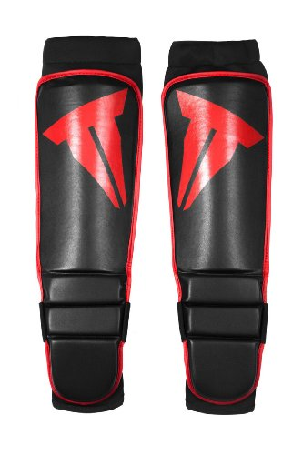 Throwdown Schienbeinschoner Grappling Shin In-Step Guards, Schwarz, L, TDGSIG (Hayabusa Shin Guard)