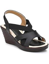 RIMEZS Slip On Platform Heel Sandals for Women & Girls